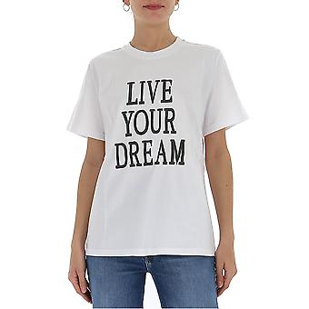 Alberta Ferretti 07011672j1001 Women's White Cotton T-shirt