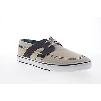 Tommy Bahama Stripes Asunder  Mens Beige Tan Canvas Casual Boat Shoes