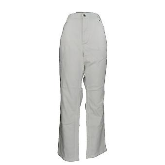 Denim & Co. Damen's Plus Jeans Wie schlank gefärbt weiß A272958