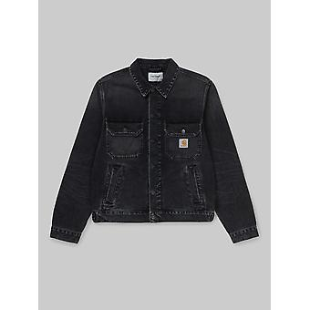Carhartt WIP Stetson Denim Jacket - Black Mid Worn Wash