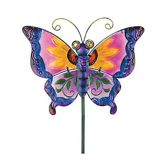 Regal Garden Decor Floral Butterfly Stake