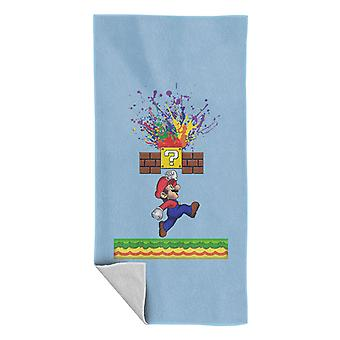 Super Mario Super Paint Splatters Beach Towel