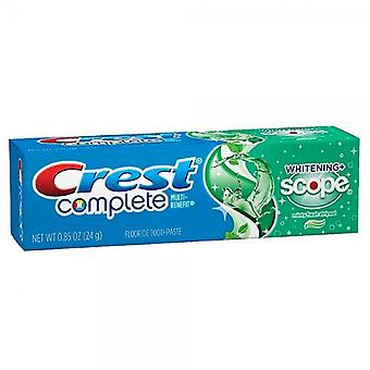Crest complete whitening + scope toothpaste, minty fresh, 0.85 oz