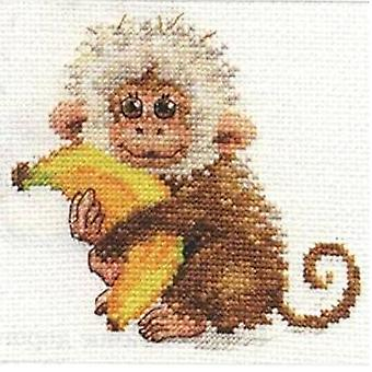 Alisa Cross Stitch Kit - Monkey