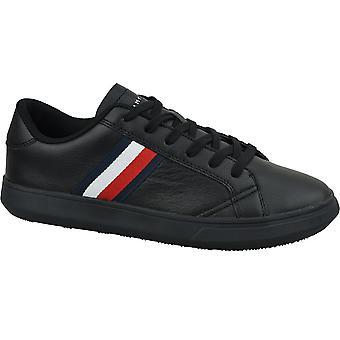 Tommy Hilfiger Essential Lederen Cupsole FM0FM02388BDS universeel het hele jaar heren schoenen