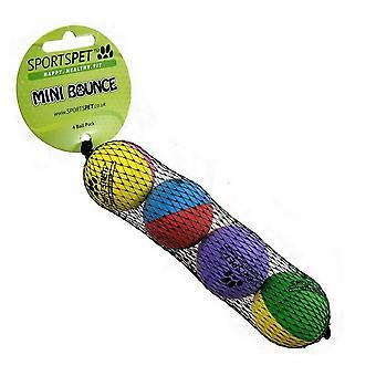 Sportspet Mini High Bounce Tennis Ball (Pack Of 4)