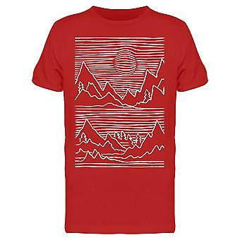 Landscape Silhouette In Lines Men's T-shirt