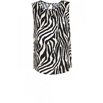 b.young Zebra Print Sleeveless Top
