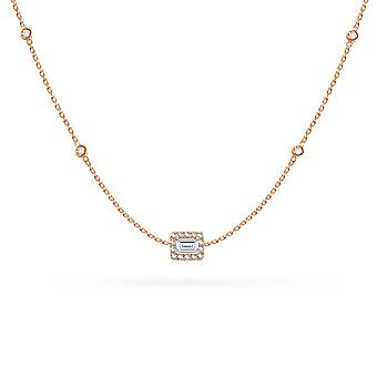 Necklace Constellation Emerald-cut Diamond and 18K Gold - Rose Gold