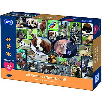 Gibsons RSPCA All Creatures Great & Small Jigsaw Puzzle 1000 piece