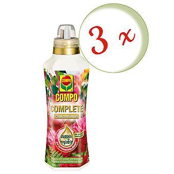 Sparset: 3 x COMPO COMPLETE plant fertilizer, 1 litre