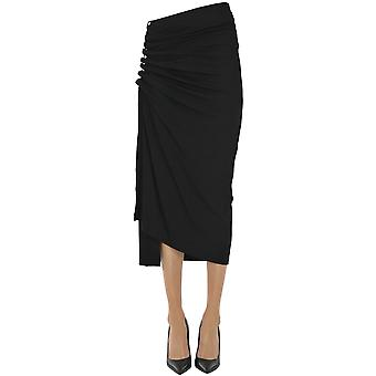 Paco Rabanne Ezgl246010 Women's Black Viscose Skirt