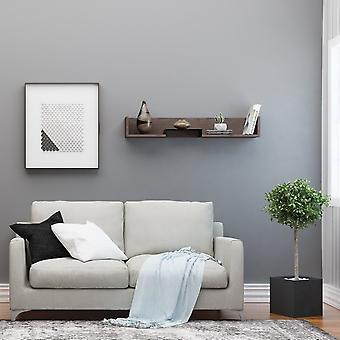 Mensola Bled Color Wenge, Nero in Truciolato, Strato in Metallo Verniciato 108x18x16 cm