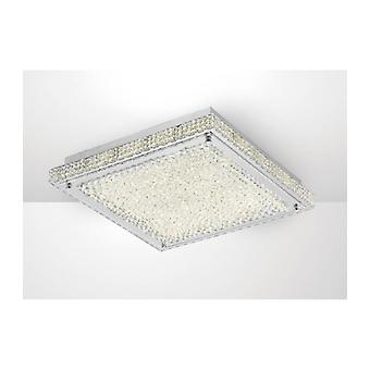 Ceiling Lamp Amelia 21w 2100lm Led 4000k Stainless Steel / Crystal