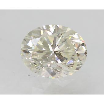 Certified 0.74 Carat G Color VVS2 Oval Enhanced Natural Diamond 6.21x5.1mm