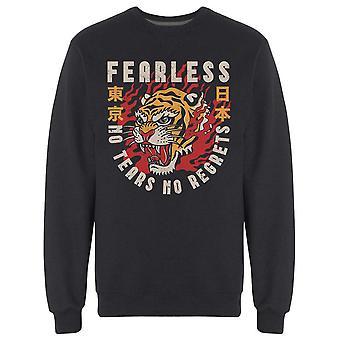 Fearless Tiger och citat Sweatshirt Men & apos; s -Bild av Shutterstock