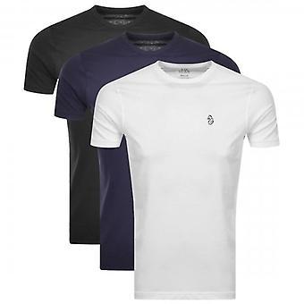 Luke 1977 Luke Johnys 3 Pack Small Logo T-Shirts Black/White/Navy M420150
