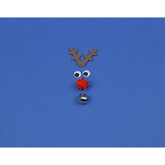 Kit, um eine einzelne kleine Luxus Rudolph Reindeer Gesicht zu machen