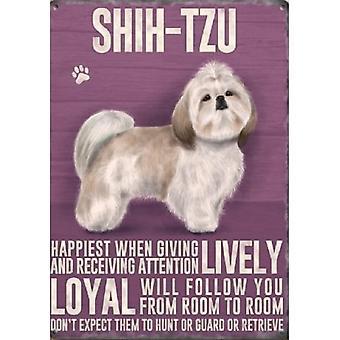 Shih Tzu Metal Sign