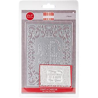 First Edition Christmas Craft a Card Cutting Die - Happy New Year