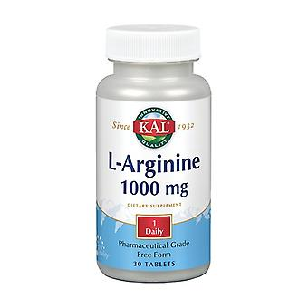 L-Arginine 30 tabletten van 1000mg