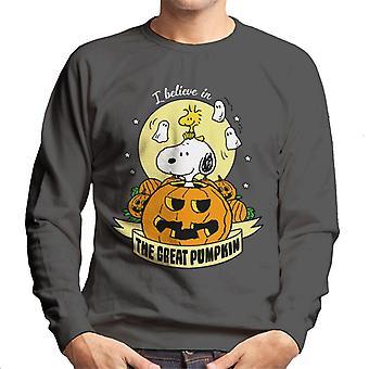 Jordnötter Halloween den stora pumpa män ' s tröja