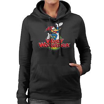 Woody Woodpecker Classic Logo Women's Hooded Sweatshirt