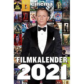 Cinema Film Kalender 2021 Groot formaat wekelijkse kalender met 53 film poster motieven.