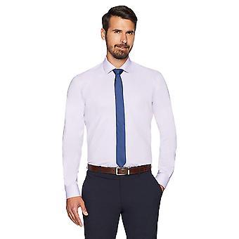 BOTONADO ABAJO Hombres's Slim Fit Spread-Collar No Hierro Vestido Camisa (Sin Bolsillo), ...