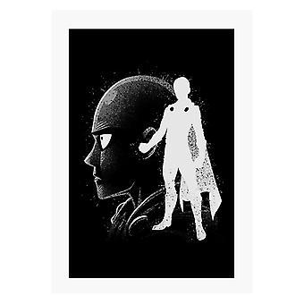 Tinte Saitama ein Punch Mann A4 Druck