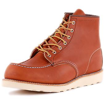 Red Wing 6-inch Moc Toe Mens Classic Boots in Tan