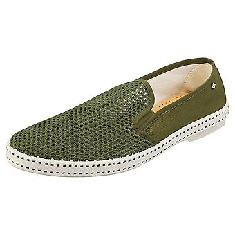 Rivieras Classic 20 Mens Espadrille Shoes in Khaki