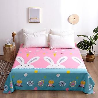 100% Cotton Soft Modern Flat Bed Sheet - Nordic Bed Cover