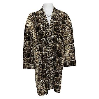 Attitudes van Renee Women's Top Printed Jersey Lounge Kimono Black A377499