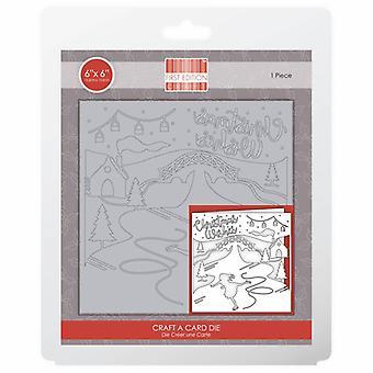 Première édition Christmas Craft A Card Die - Souhaits de Noël