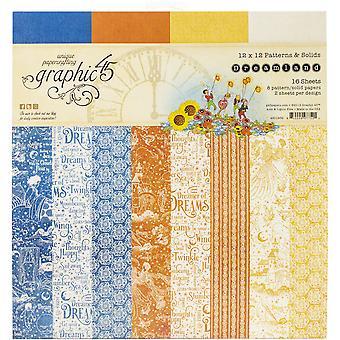 Graphique 45 Dreamland 12x12 Inch Patterns & Solides Papier Pad