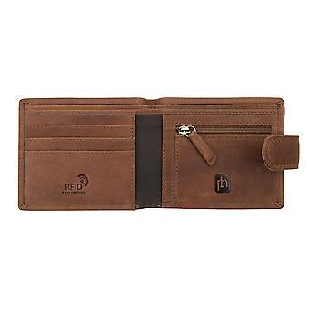 Primehide Mens Leather Wallet RFID Blocking Gents Credit Card Notecase 4030