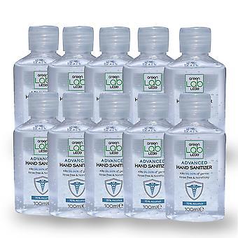 Hand Sanitiser Gel 75% Alcohol 100ml 99% Anti-bacterial(Pack of 10)