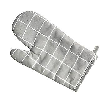 Oven heat insulation and anti-scald gloves, cotton soft kitchen baking high temperature protective cover
