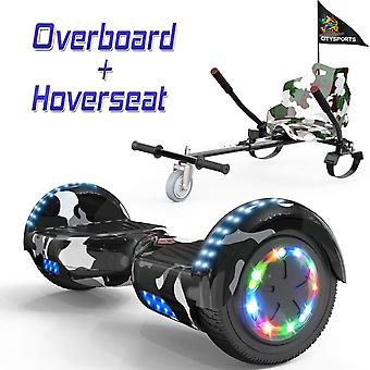 CITYSPORTS Camouflage Hoverboard Segway avec Hoverkart réglable