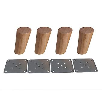 4pcs Wood Furniture Foot Leg Feet 10cm