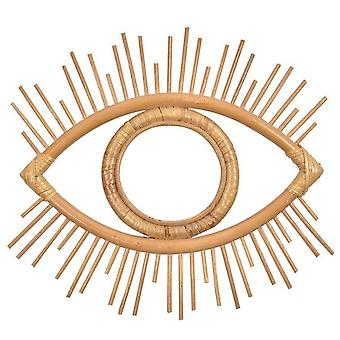 Auge Form dekorative Spiegel Rattan innovative Kunst Dekoration Runde Make-up