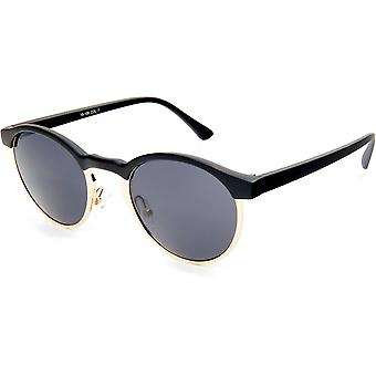 Sunglasses Unisex Panto black/gold (19-188)