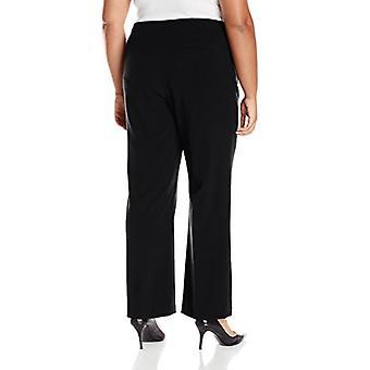 Briggs New York Women's Plus-Size Hollywood Waist Straight-Leg Pull-On Pant, ...