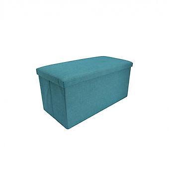 Rebecca Furniture Puff Rectangular Objects Portaso Turquoise Fabric 38x76x38