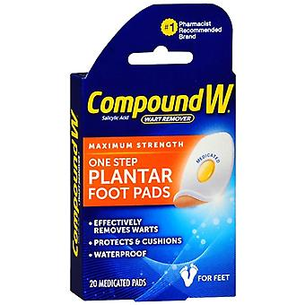 Compound w one step plantar pads, wart remover, 20 ea *
