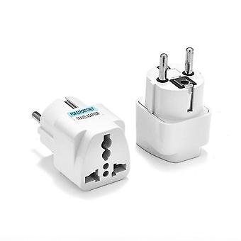 Universal Eu Plug Adapter International Au Uk Us To Eu Euro Kr Travel Adapter