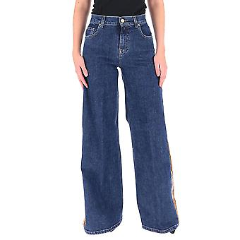 L'autre Koos B156042781au710 Women's Blue Cotton Jeans