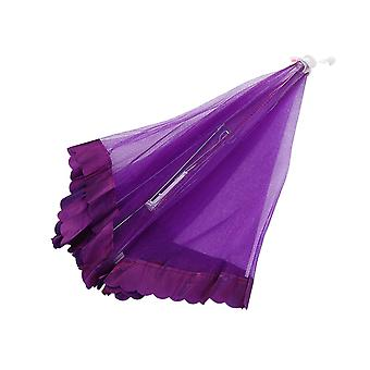 50x50x30cm Lace Mesh Food Cover Tents Purple Outdoor Picnic