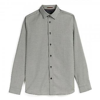 Тед Бейкер Drizzl LS Текстурированная черная рубашка
